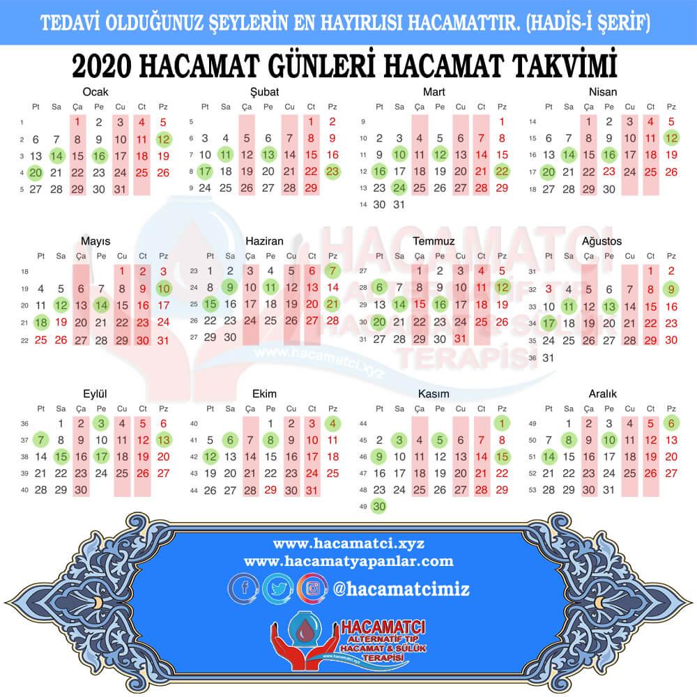 2020 1000 - Hacamat Takvimi 2020