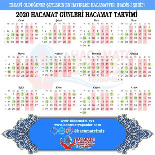 Hacamat Takvimi 2020